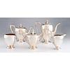 A Reed & Barton Five Piece Silver Tea and Coffee Service