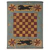"""A Painted and Carved """"Flying Horse"""" Gameboard"""