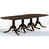 A Chippendale Style Four Pedestal Mahogany Dining Table