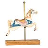 A Carved and Painted Wood Carousel Horse