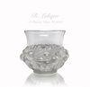 Rene Lalique Prunes Crystal Vase, C. 1930