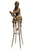 "Charlotte, A Bronze Figurine By ""Pierre Collinet"""