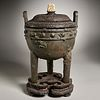 Chinese Archaic style ritual Ding tripod vessel