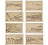 Mark of Kuncan (Shiqi) 署名 髡残 , (8) ink landscapes