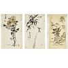 Signed Wu Tze Kang 署名 吴子康, (3) scroll paintings