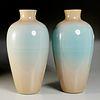 Paolo Venini, pair monumental Incamiciato vases