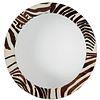 "Large Contemporary designer ""zebra"" hide mirror"