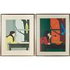 Will Barnett, (2) color lithographs, 1971