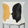 Roy Adzak, plaster and pigment sculpture, c. 1967