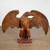 Monumental antique giltwood Eagle, Parish-Hadley
