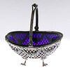 Tiffany Silver and Cobalt Basket