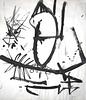 Franz Josef Kline, Untitled (April 15) Ink on Paper, c.1950