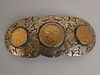 BOYD BUCKLE WITH 3 GOLD COINS