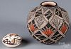 Two pieces of Native American Acoma pottery