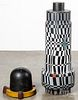 Painted foundry mold pedestal sculpture