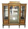 Francois Linke Vitrine Cabinet, having original beveled glass with bronze ormolu mounts, marble top, original keys, electrified seventy years ago, all