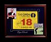 A Tiger Woods Signed 2005 British Open Flag Upper Deck Authenticated Limited Edition Display,