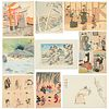 Grp: Japanese Woodblock Prints & Postcards - Tomikichiro