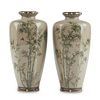 Pair of Hayashi Chuzo Japanese Cloisonne Vases - Marked