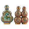 Grp: 2 Chinese Double Gourd Cloisonne Snuff Bottles