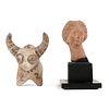 Grp: 2 Ancient Greek & Indus Valley Terracotta Figures