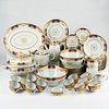 Mottahedeh Rockefeller Golden Butterfly Porcelain Dinner Service