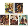Grp: 5 Norman Rockwell Boy Scout Lithographs Signed in Marker