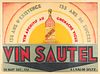 Art Deco French Vin Sautel Aperitif Advertisement Poster