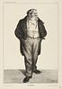 """Honore Daumier """"Mr. Baill..."""" Etching"""