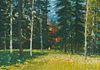 "Eric Austen Erickson ""Encampment Forest"" Gouache"