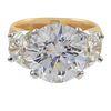 Diamond, Platinum, 18k Yellow Gold Ring
