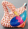 Herend Painted Porcelain Japanese Goose