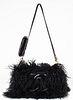 Chanel Black Mongolian Lamb Fur Tibet Flap Handbag