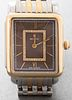 Michele Deco II Steel & Gold Tone Diamond Watch