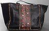 Valentino Black Leather Rockstud Handbag