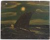 Albert Pinkham Ryder, Oil on Panel, Sailboat
