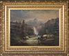 Guido Hampe, Oil on Canvas, Mountain Landscape