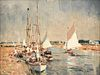 """EDWARD SEAGO (British 1910-1974) A PAINTING, """"Yachts on the River Ant,"""" NORFOLK,"""