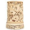 19th Cent. Chinese Carved Bone Brush Holder