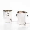 Pair of Hermès French Silver Wine Coolers