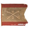 [CIVIL WAR] -- [SHERIDAN, Philip Henry (1831-1888)]. Personal headquarters flag of Philip Henry Sheridan used when he led the 2nd Michigan Cavalry. Sp