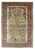 Antique Persian Mohtasham Kashan Tree of Life, 4'8'' x 6'11''