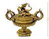 Large 19th C. French Japonisme Bronze Centerpiece