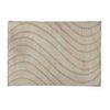 Tapete. SXX. Elaborada en fibras de algodón. Decorado con elementos orgánicos en fondo beige. 229 x 161 cm