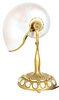 Tiffany NY Gilt Bronze Nautilus Desk Lamp