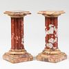 Pair of Doric Marble Fluted Columns