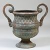 Large Neoclassical Style Bronze Garden Urn