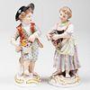 Pair of Meissen Porcelain Figures of Child Flower Sellers