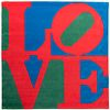 """ROBERT INDIANA (New Castle, Indiana, USA, 1938 - Vinalhaven, Maine, USA, 2018). """"LOVE"""". Handmade woolen tapestry. Signed."""