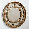 English Gilded Bullseye Mirror